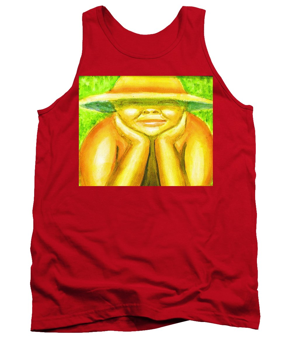 Tank Top featuring the painting Summer Sun by Jan Gilmore