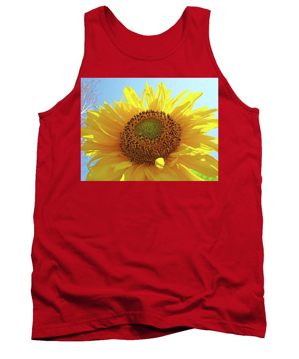 Sunflower Tank Top featuring the photograph Sun Flowers Art Sunflower Giclee Prints Baslee Troutman by Baslee Troutman