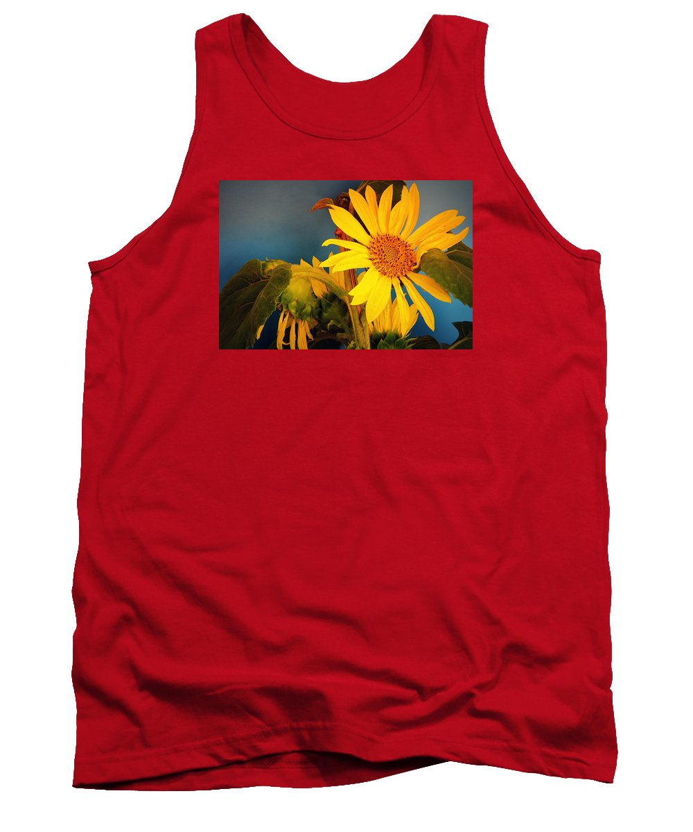 Sunflowers Tank Top featuring the photograph Sunflowers by Camelia C