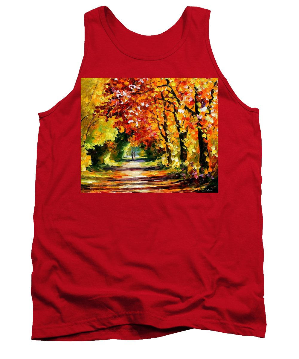 Afremov Tank Top featuring the painting Sunny Path by Leonid Afremov