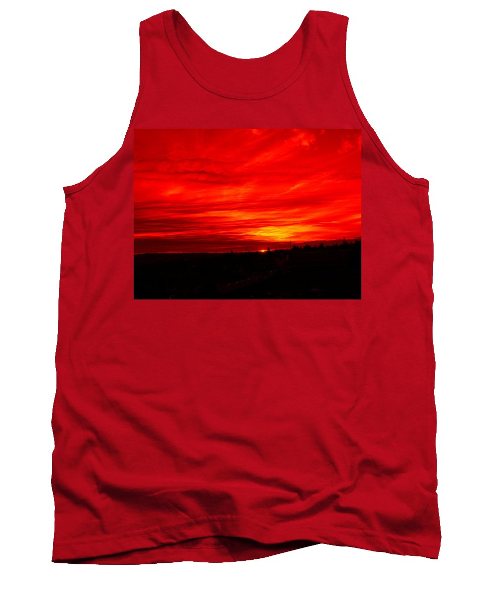 Seattle Tank Top featuring the digital art Sunset 2 by Tim Allen