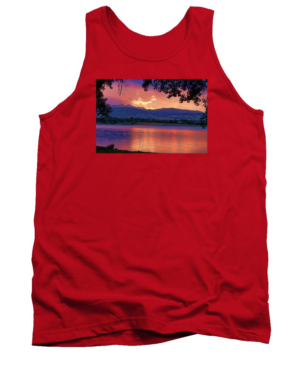 Sunsets Tank Top featuring the photograph Sunset 6.27.10 - 28 by James BO Insogna