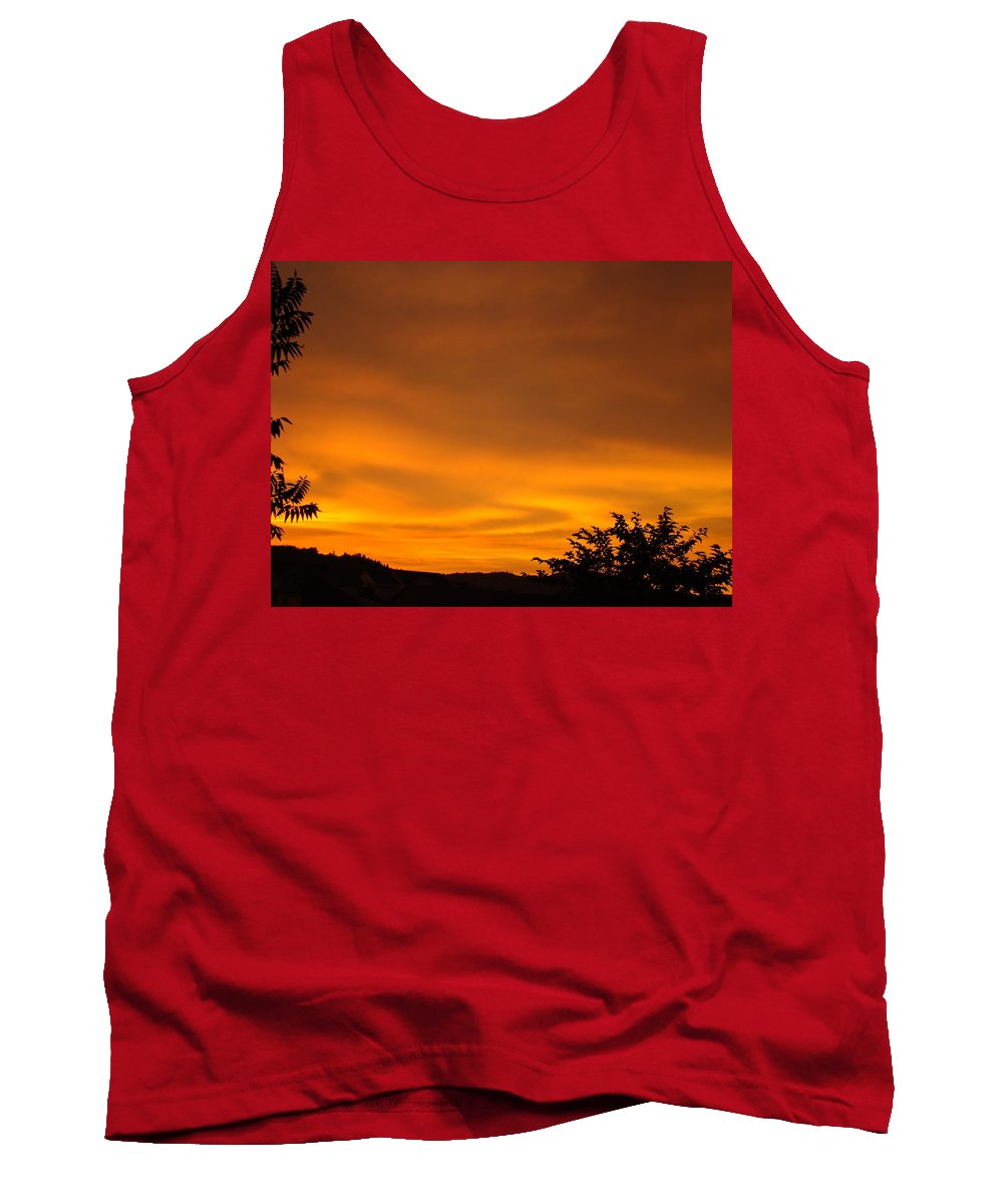 Sunset Tank Top featuring the photograph Sunset Art Prints Orange Glowing Western Sunset Baslee Troutman by Baslee Troutman