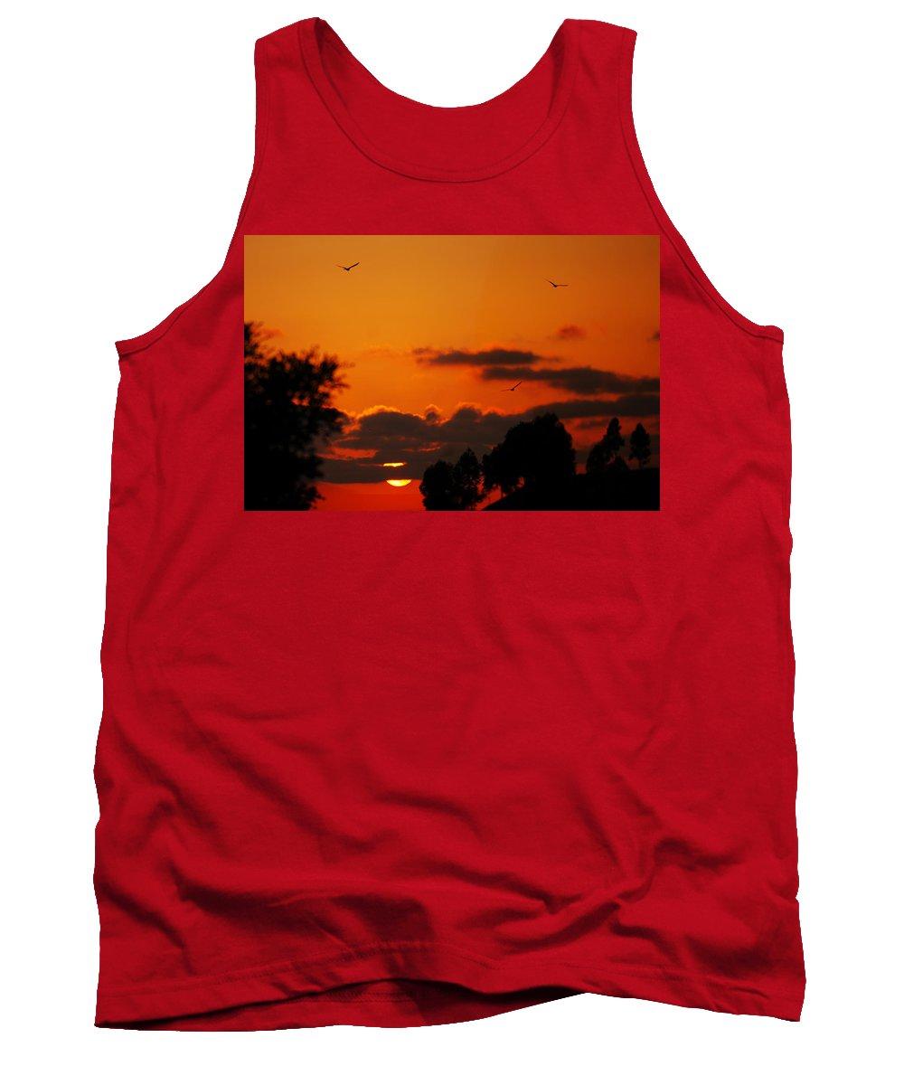 Sunset Tank Top featuring the photograph Sunset Birds by Jill Reger