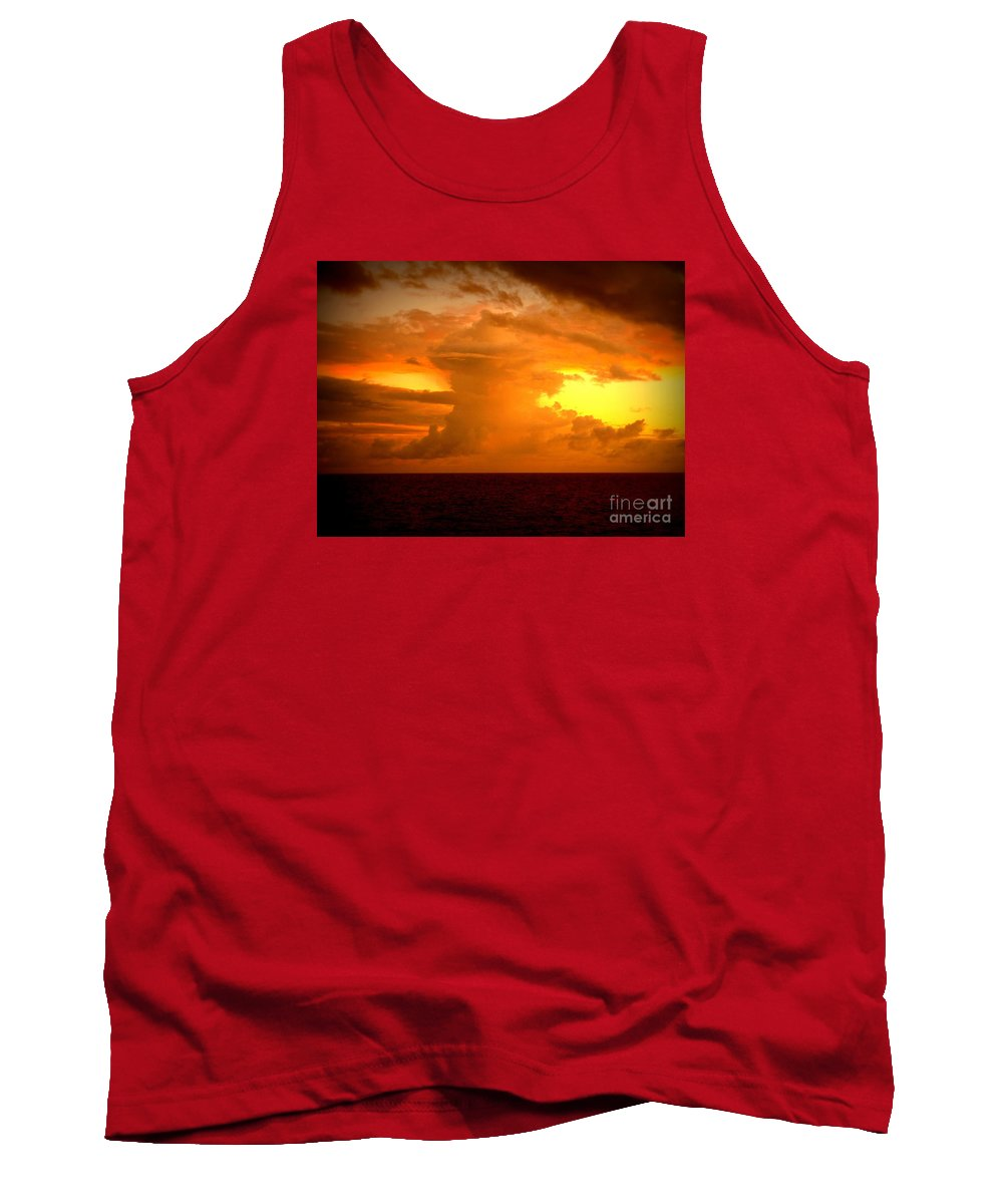 Sunset Tank Top featuring the photograph Sunset Indian Ocean by John Potts