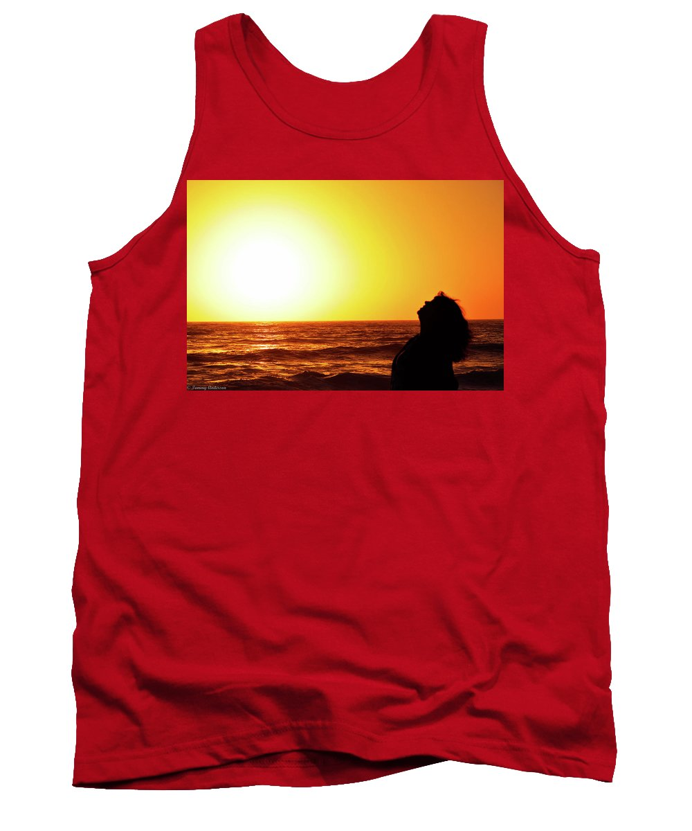 California Tank Top featuring the photograph Sunset On Wall Beach by Tommy Anderson