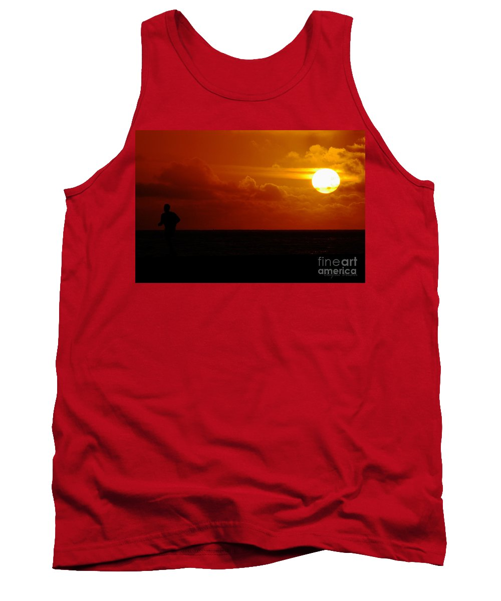 Clay Tank Top featuring the photograph Sunset Over The Pacific by Clayton Bruster
