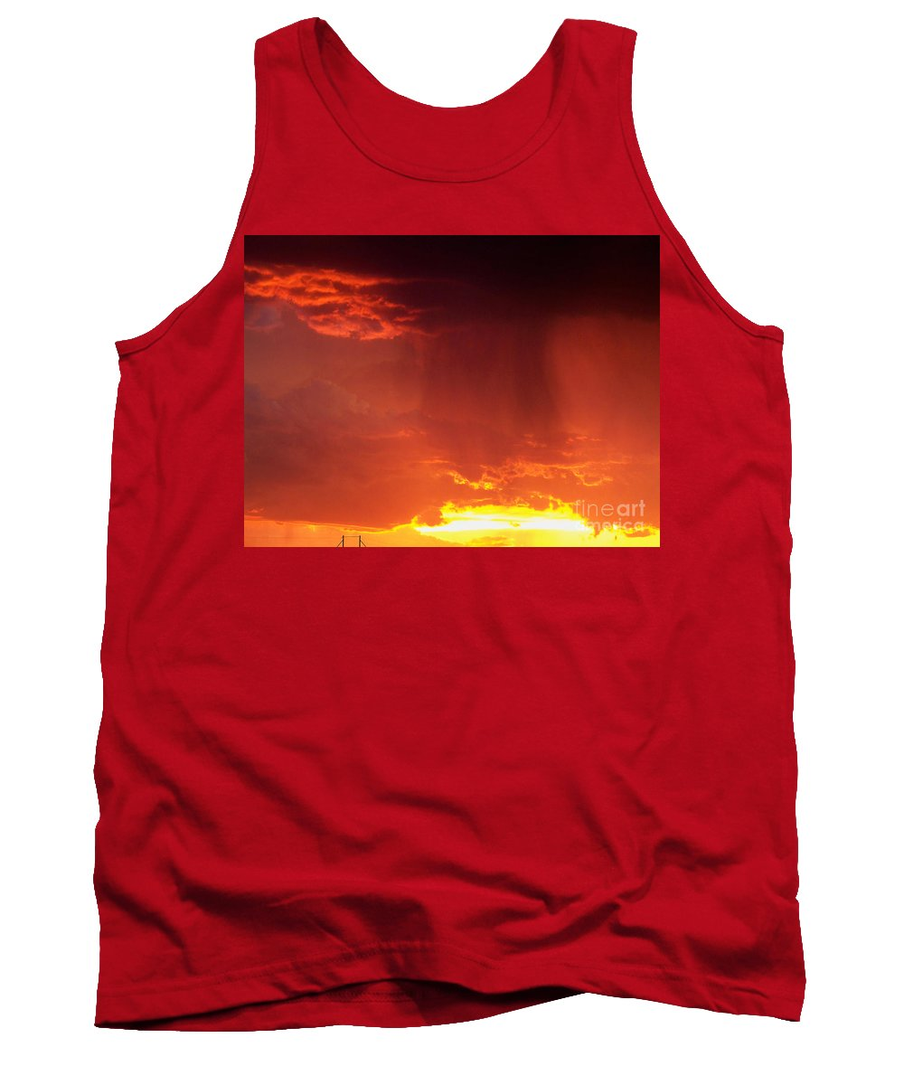 Sky Tank Top featuring the photograph Sunset Rain by Brian Commerford