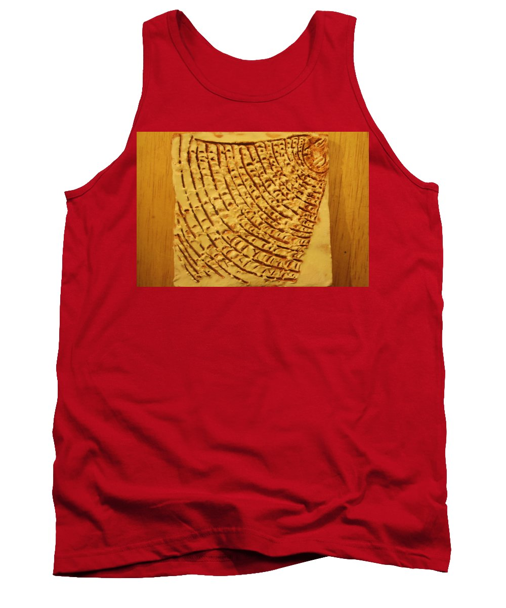 Jesus Tank Top featuring the ceramic art Surprise - Tile by Gloria Ssali