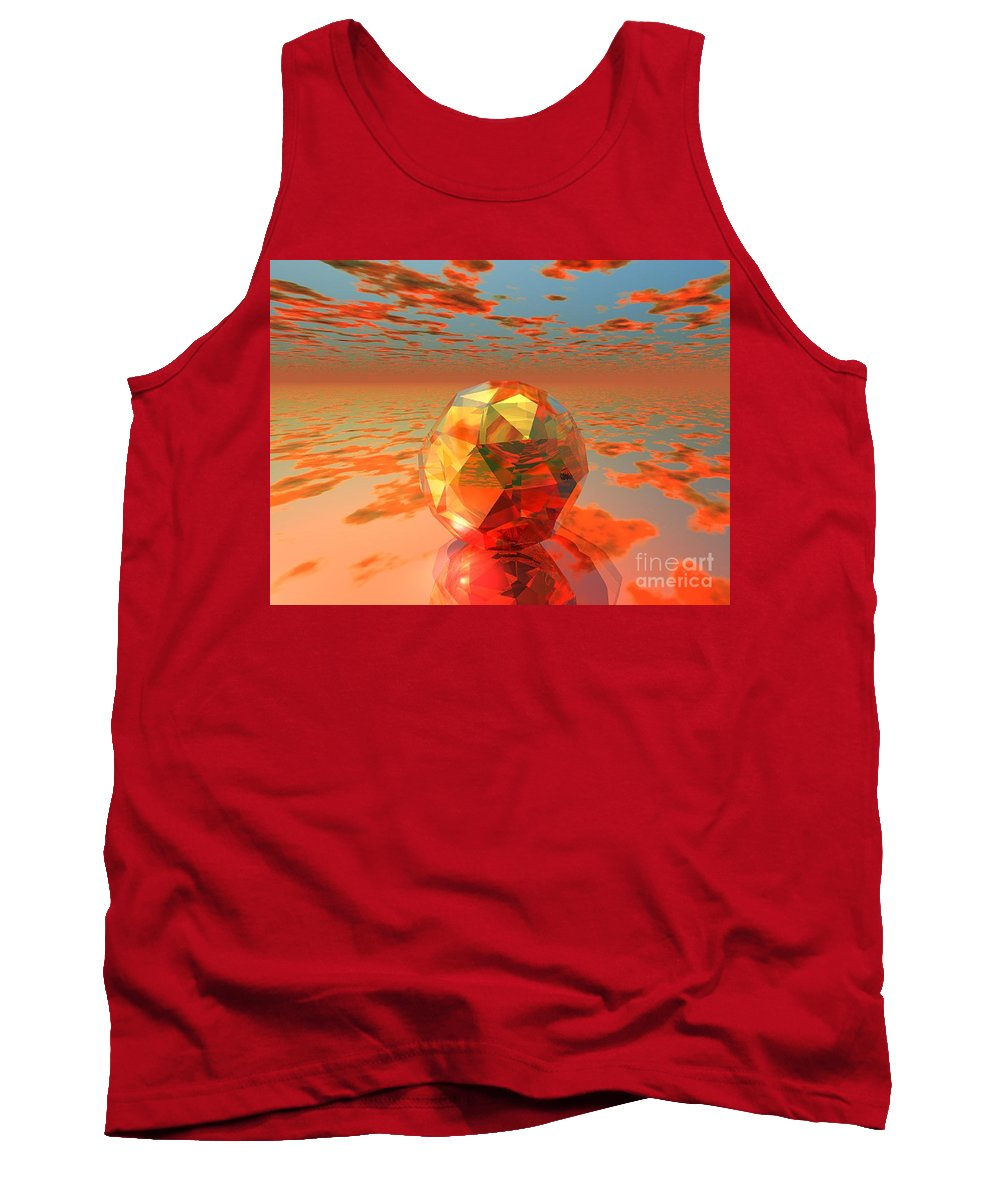 Surreal Tank Top featuring the digital art Surreal Dawn by Oscar Basurto Carbonell