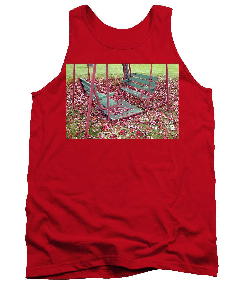 Swing Set Tank Top featuring the photograph Swing Set by David Lee Thompson