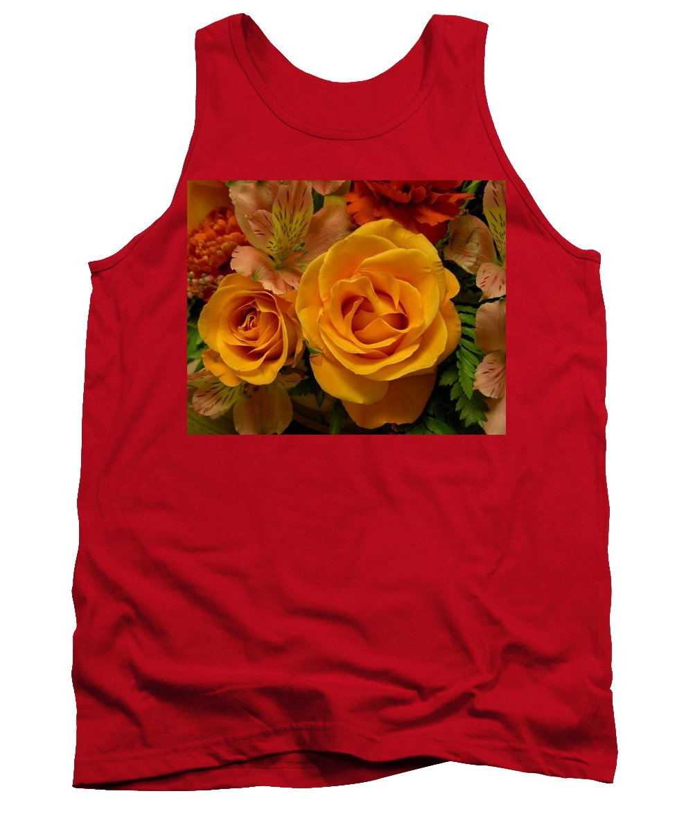 Tangerine Tank Top featuring the photograph Tangerine Kisses by Carolyn Jacob