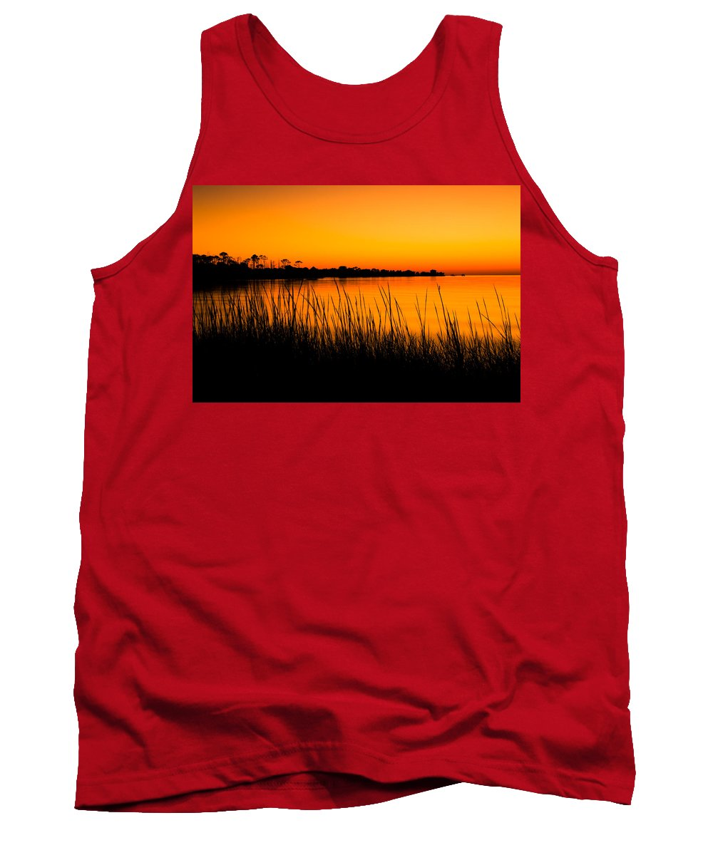 Beach Tank Top featuring the photograph Tangerine Sunset by Rich Leighton