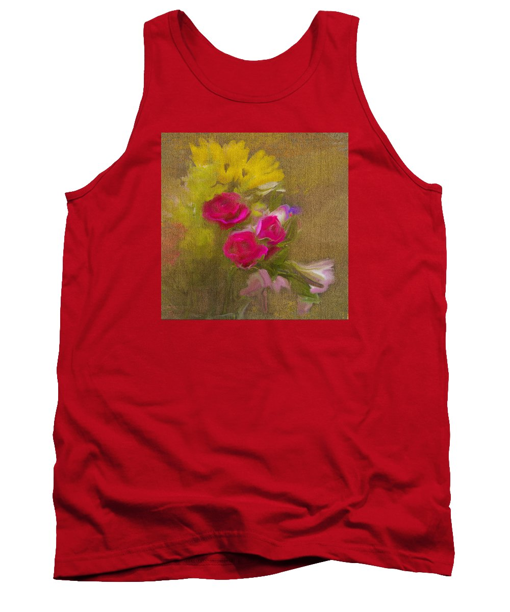 Flower Tank Top featuring the photograph Tapestry Bouquet by Sharon M Connolly
