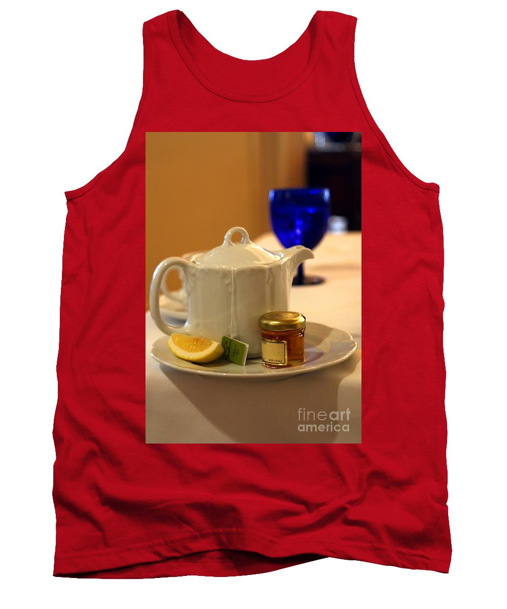 Tea Tank Top featuring the photograph Tea at the Ritz by Madeline Ellis