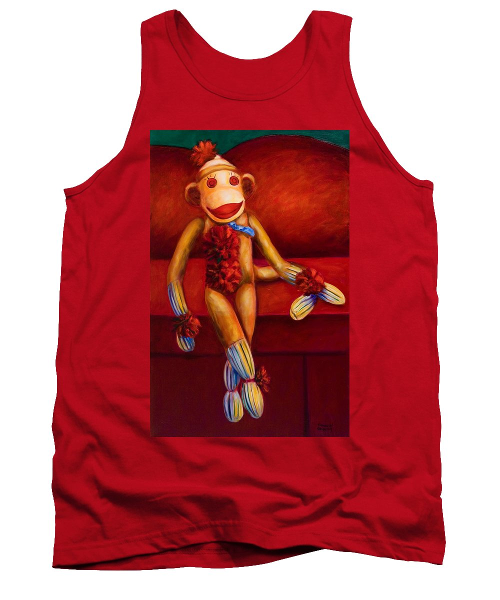 Children Tank Top featuring the painting Tell Me All About It by Shannon Grissom