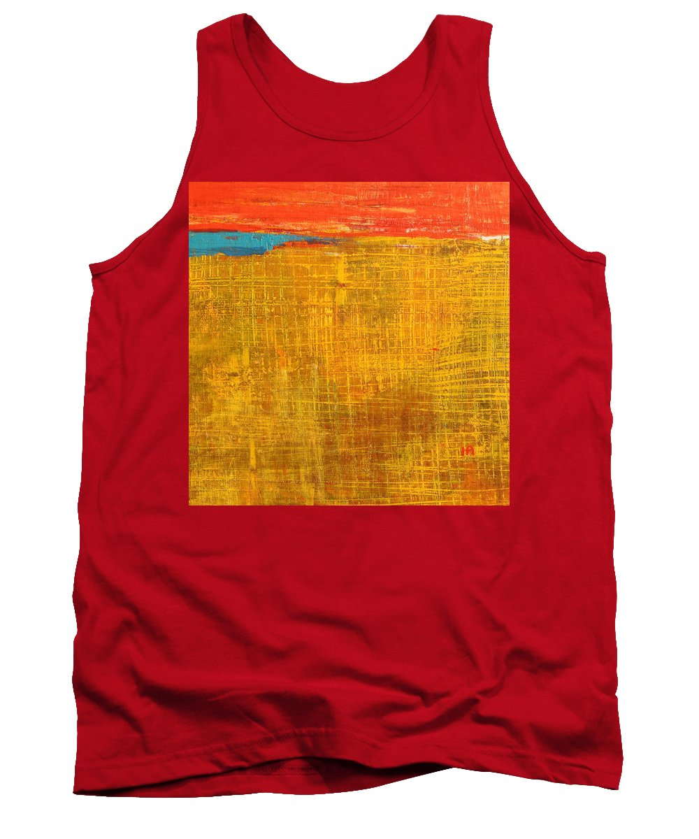 Abstract Tank Top featuring the painting Tell Me Something by Habib Ayat