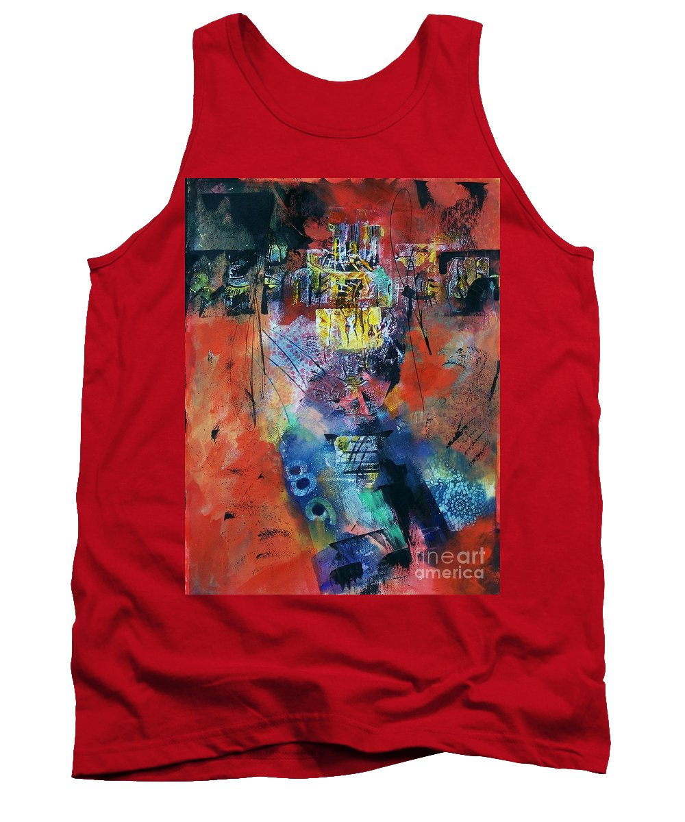 Abstract Expressionism Tank Top featuring the painting Temperature's Rising by Donna Frost