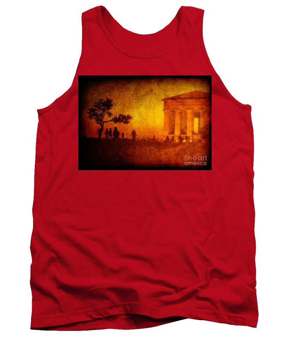 Temple Tank Top featuring the photograph Temple by Silvia Ganora