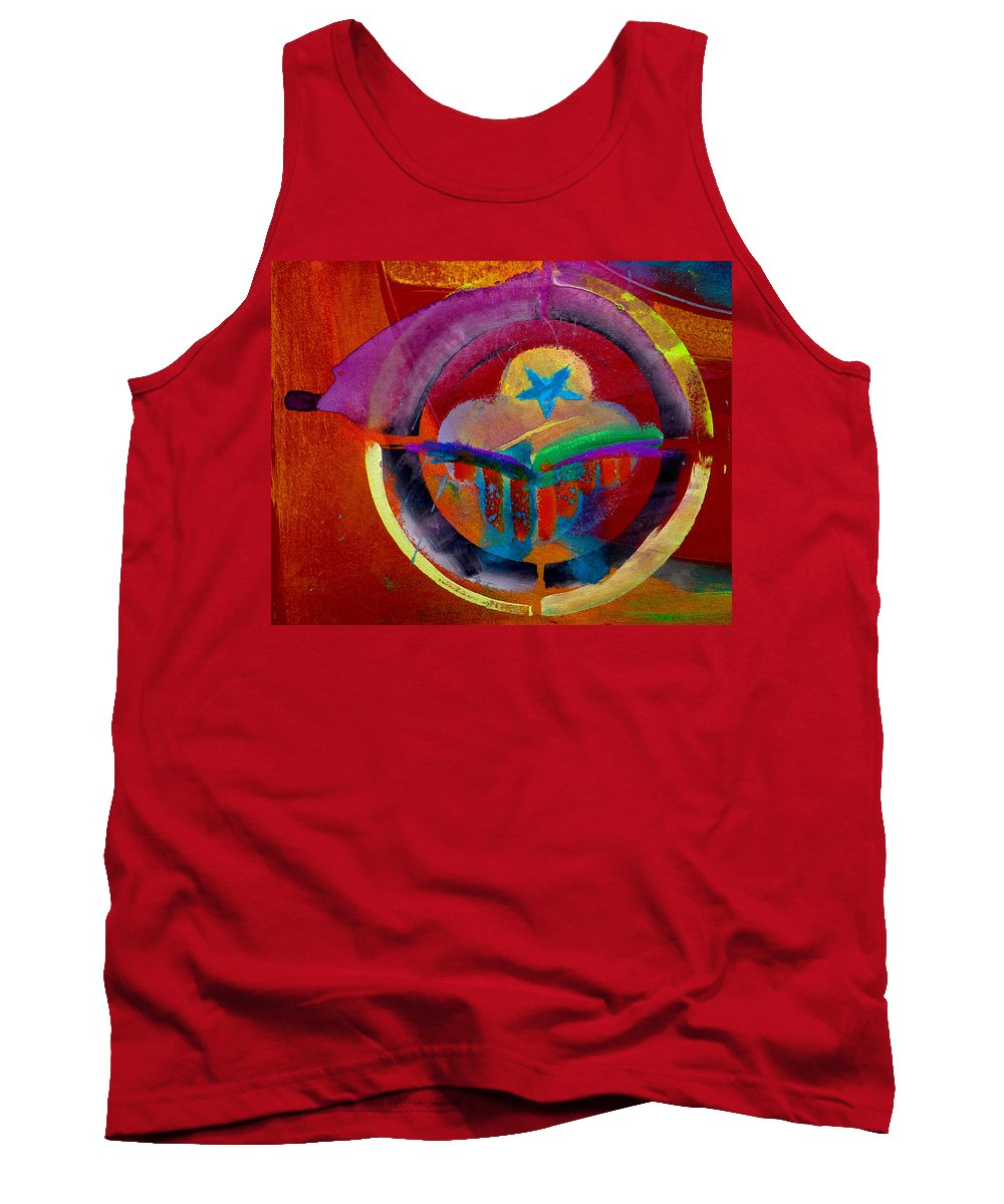 Button Tank Top featuring the painting Texicana by Charles Stuart