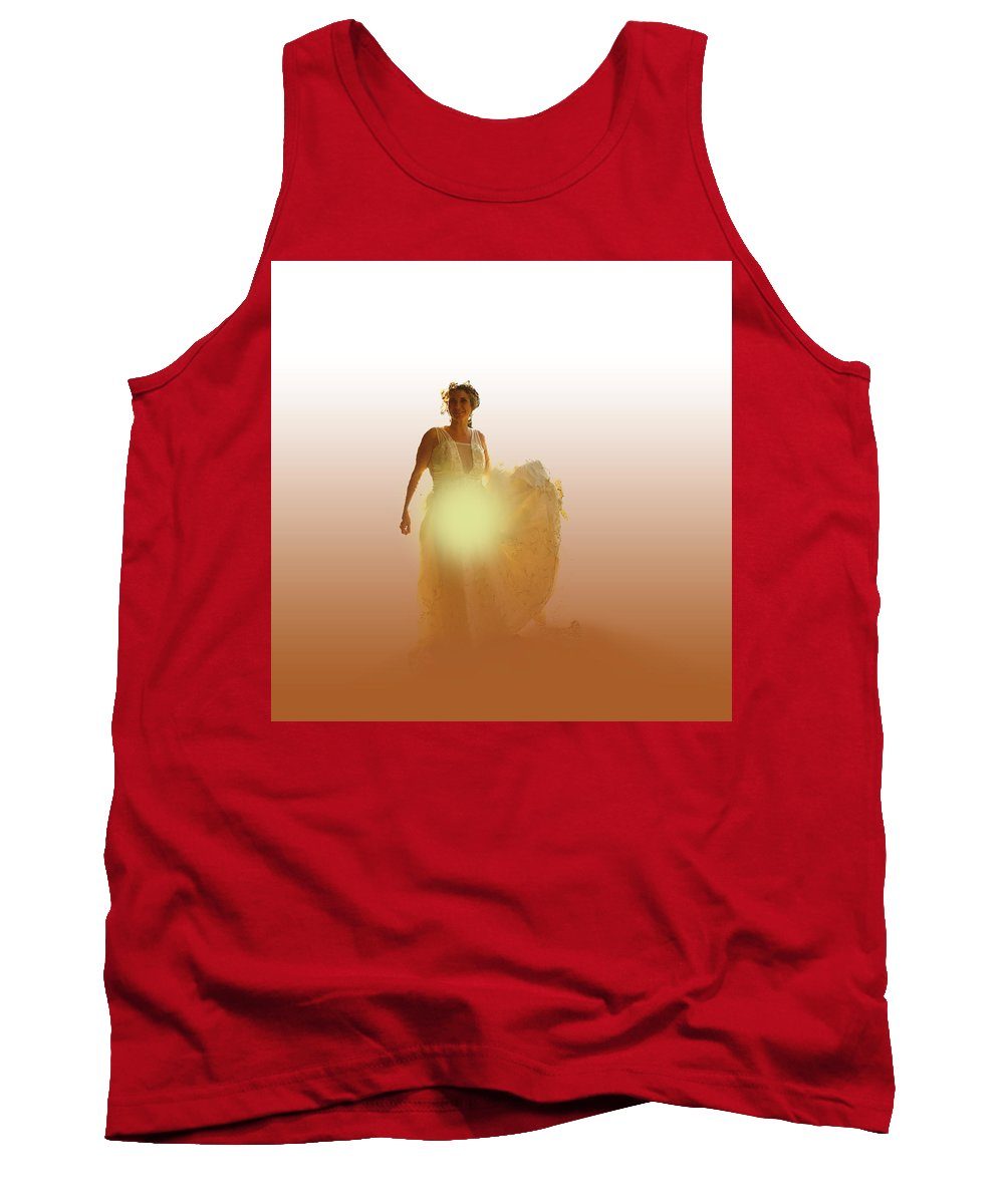 Wedding Tank Top featuring the digital art The Annunciation by Francis Ronalds
