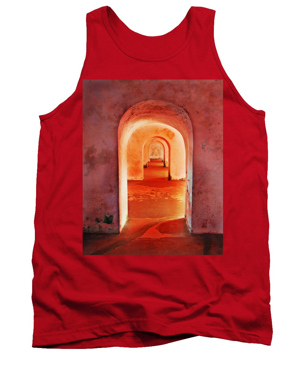 Arch Tank Top featuring the photograph The Arches by Perry Webster