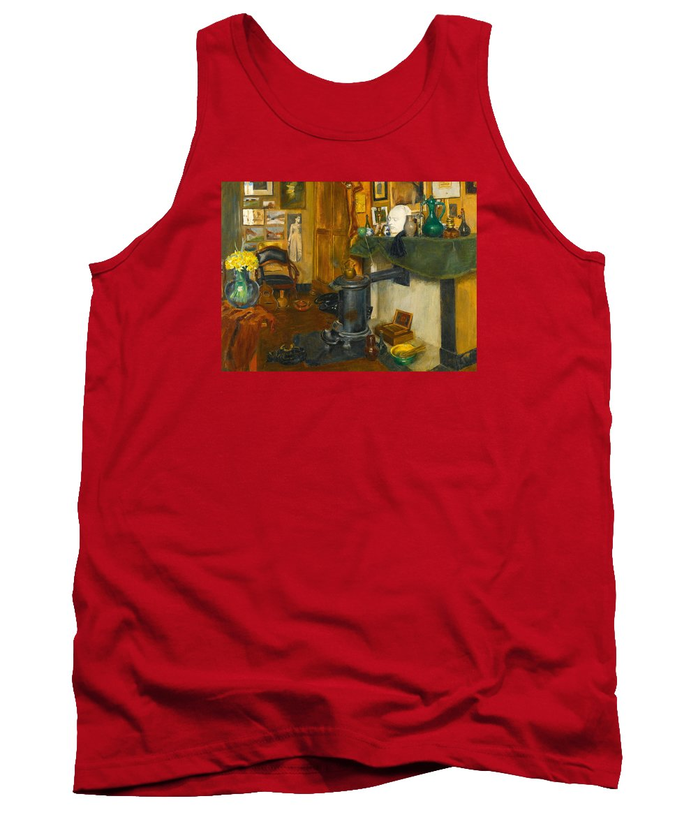 Henri Evenepoel Tank Top featuring the painting The Artist's Studio by Henri Evenepoel