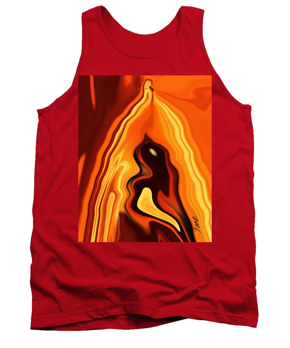 Art Tank Top featuring the digital art The Bird In The Case by Rabi Khan