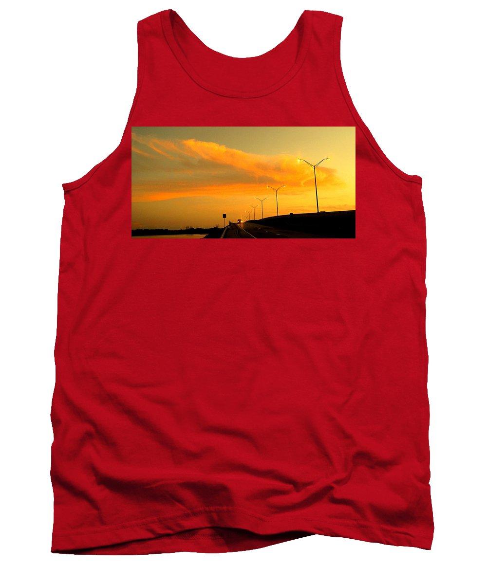 Sunset Tank Top featuring the photograph The Bridge At Sunset by Ian MacDonald