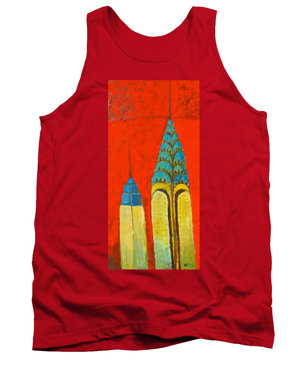 Tank Top featuring the painting The Chrysler And The Empire State by Habib Ayat