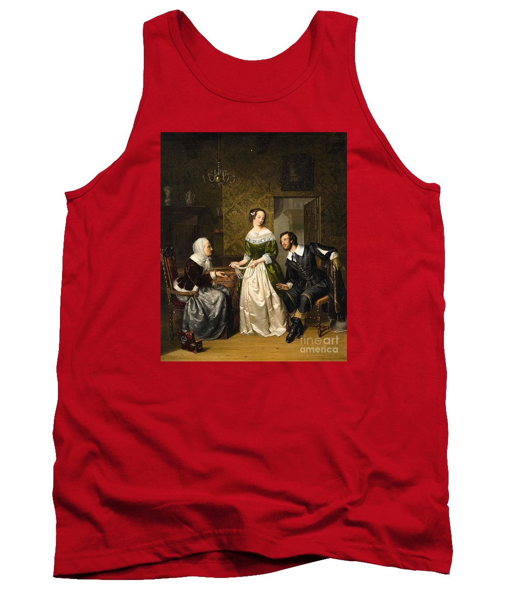 Ezechiel Davidson Tank Top featuring the painting The Conversation by Celestial Images