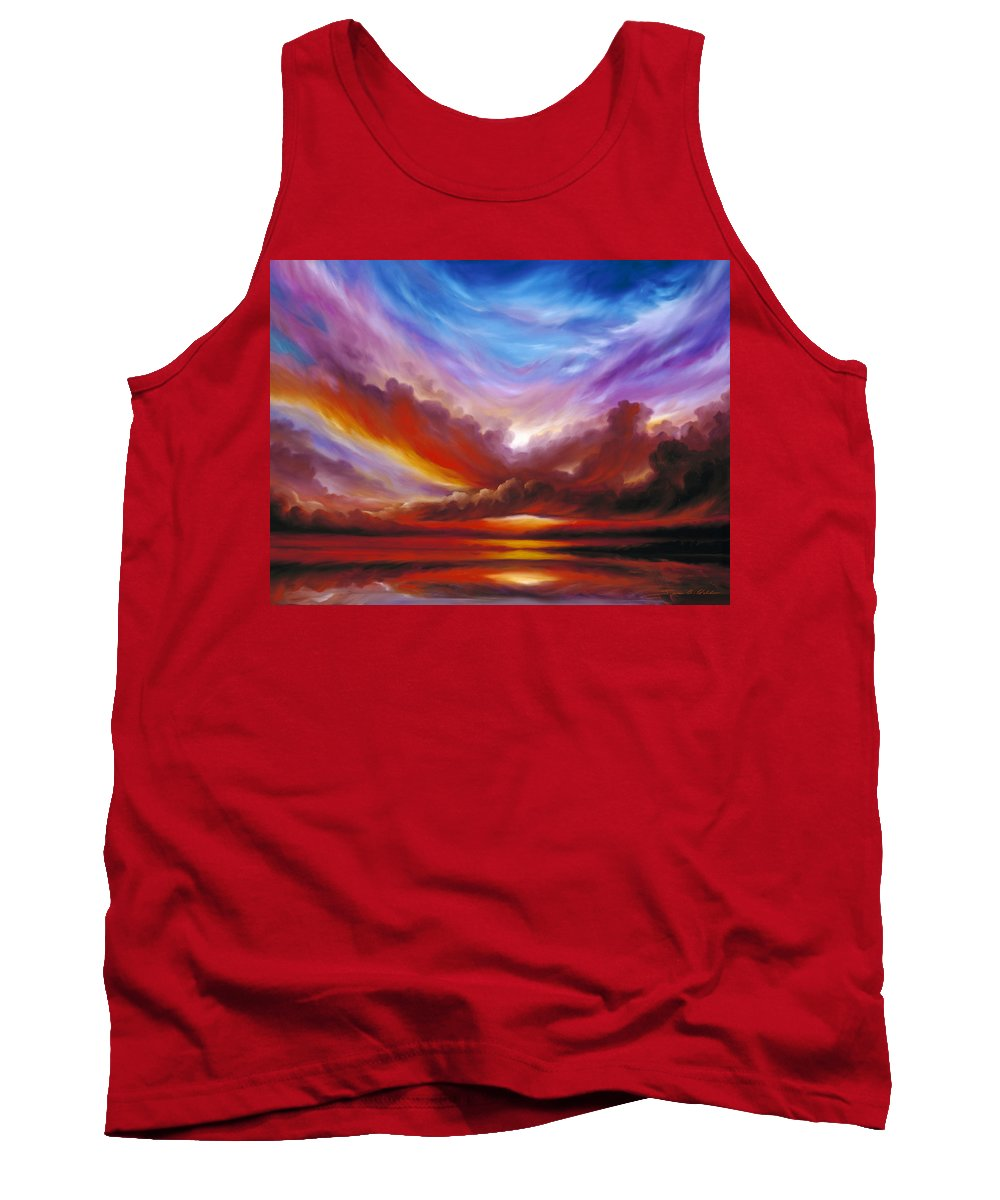 Skyscape Tank Top featuring the painting The Cosmic Storm II by James Christopher Hill
