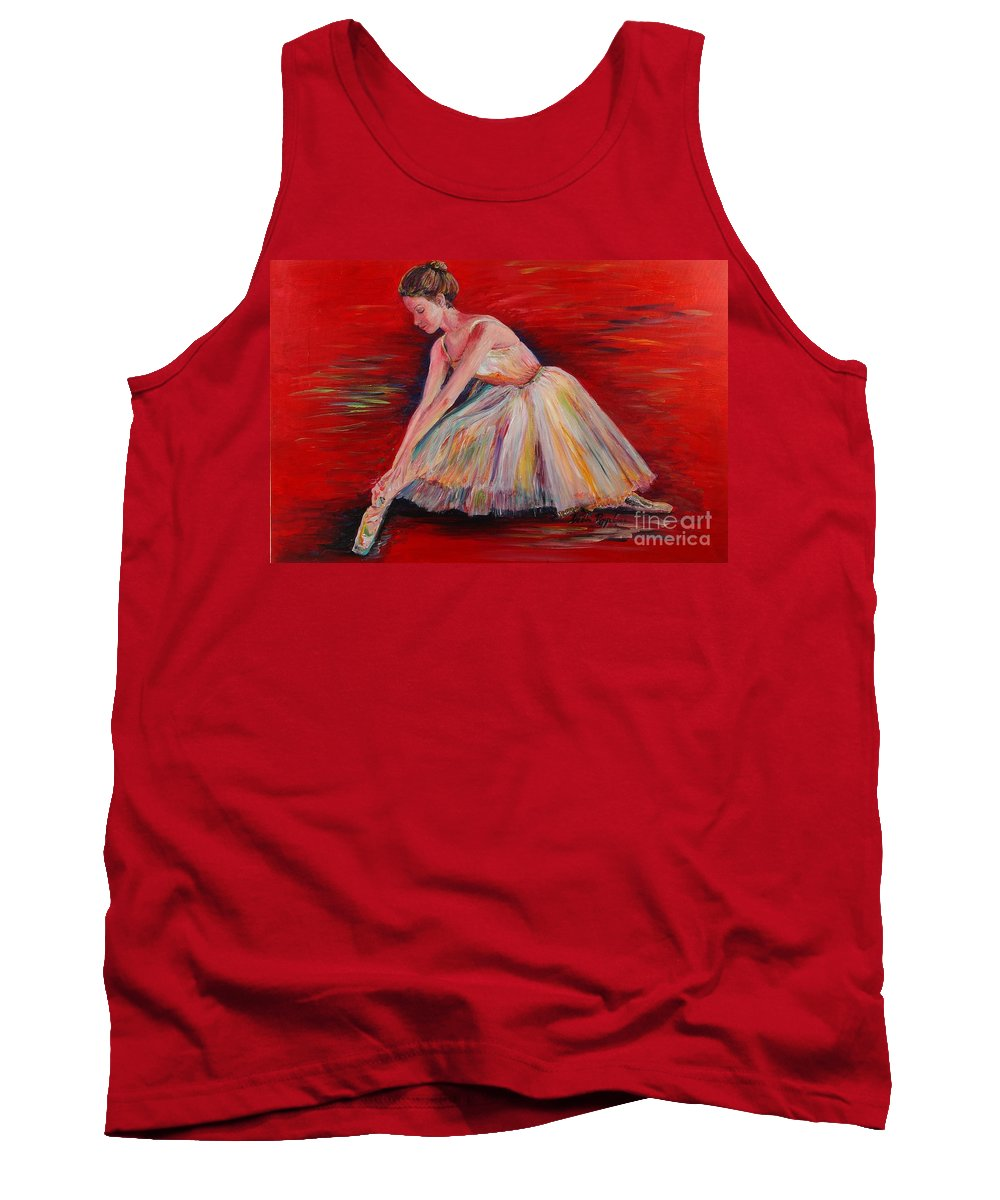 Dancer Tank Top featuring the painting The Dancer by Nadine Rippelmeyer
