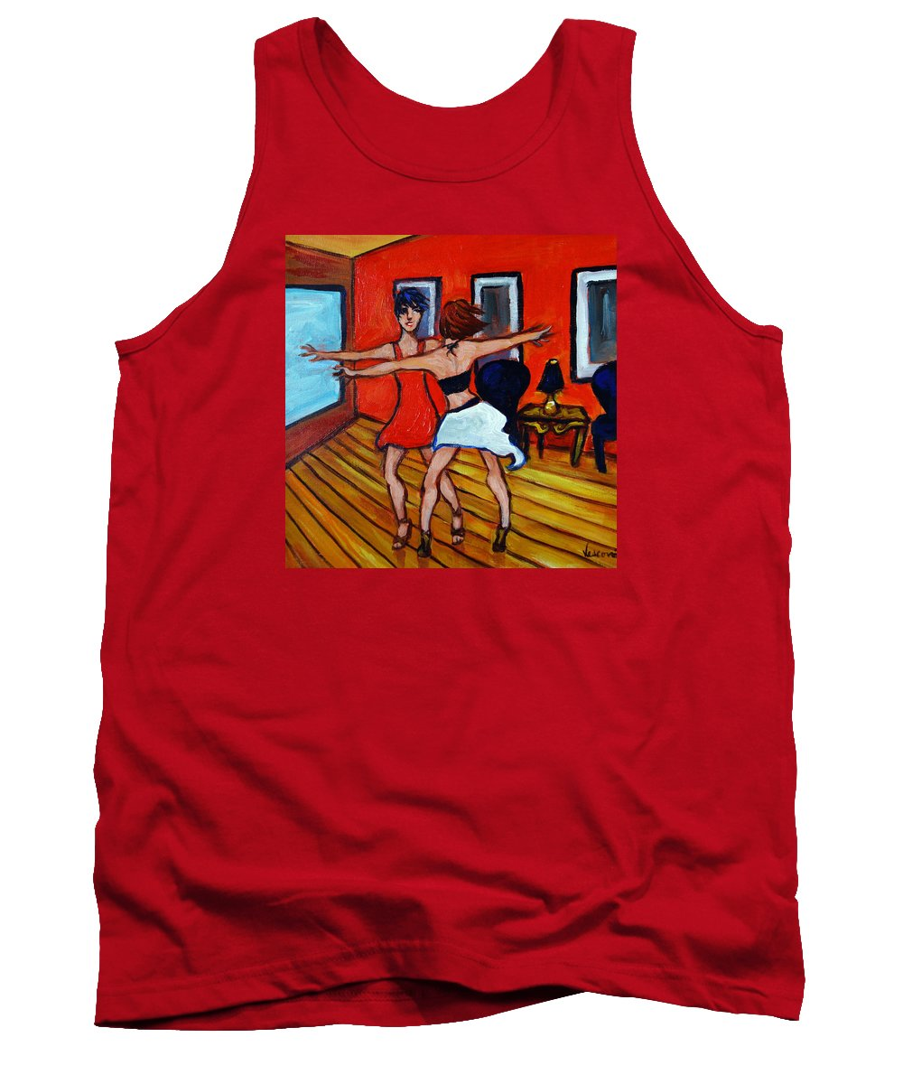 Dancers Tank Top featuring the painting The Dancers by Valerie Vescovi