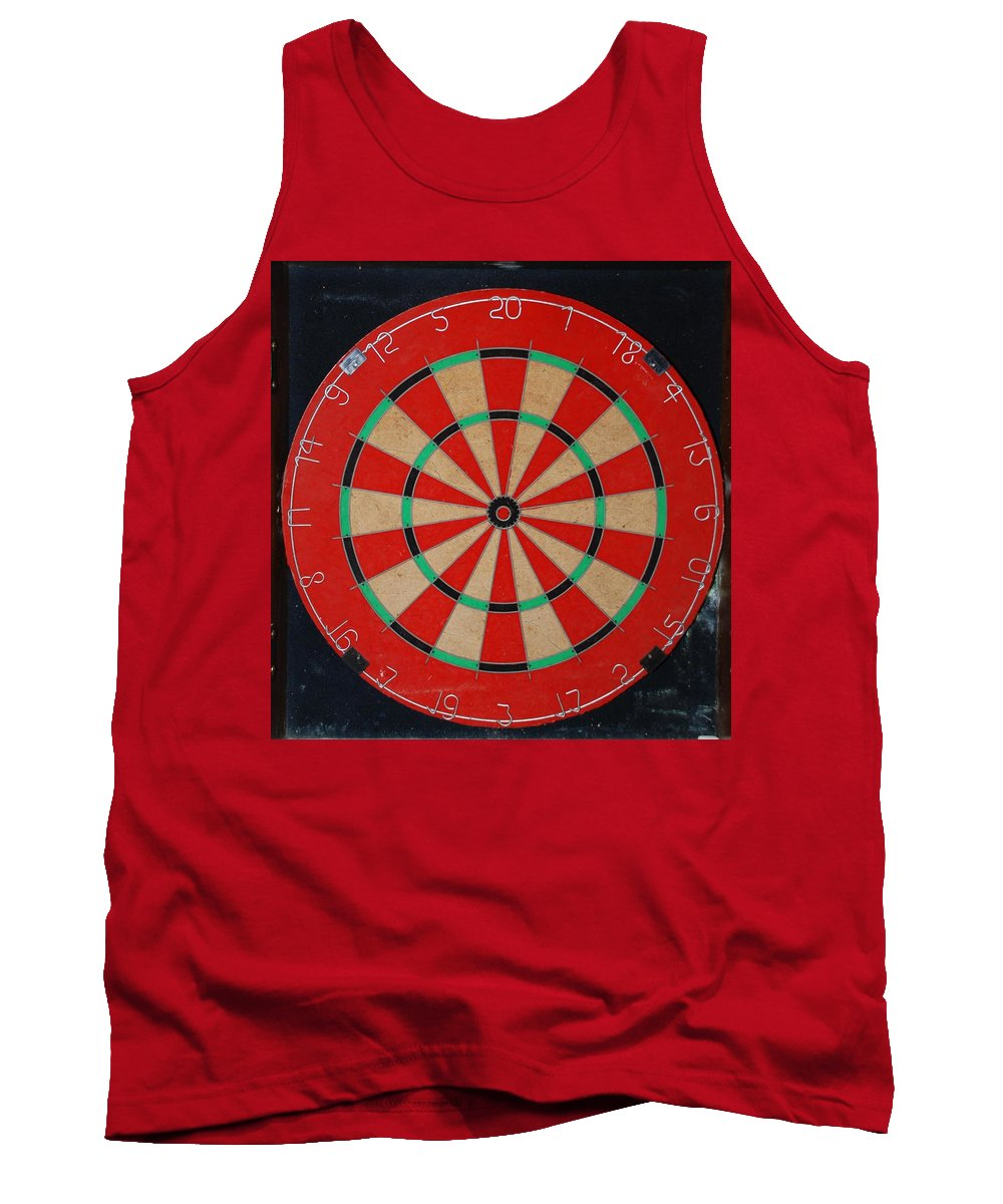 Macro Tank Top featuring the photograph The Dart Board by Rob Hans