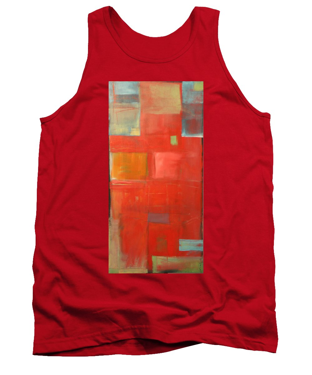 Red Tank Top featuring the painting The Day Tim Russert Died by Tim Nyberg