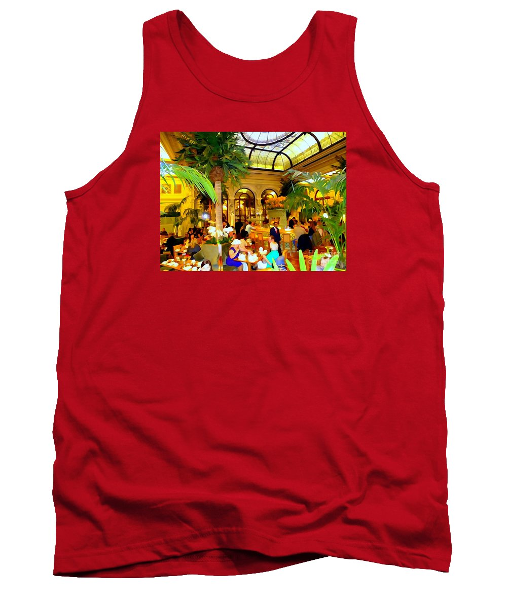 Digital Art Tank Top featuring the photograph The Easter Holiday Tea At The Palm Court by Ed Weidman