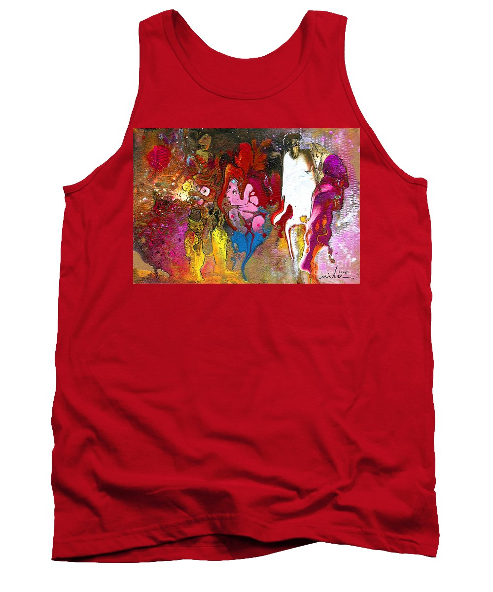 Miki Tank Top featuring the painting The First Wedding by Miki De Goodaboom