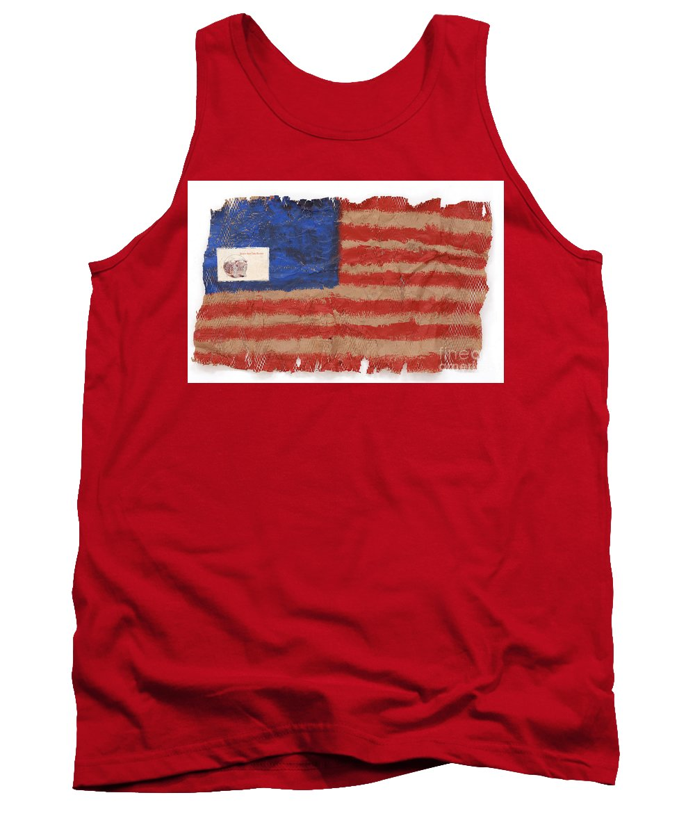Flag Tank Top featuring the mixed media The Flag by Jaime Becker