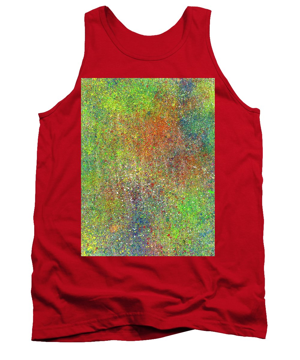 Abstract Tank Top featuring the painting The God Particles #544 by Rainbow Artist Orlando L