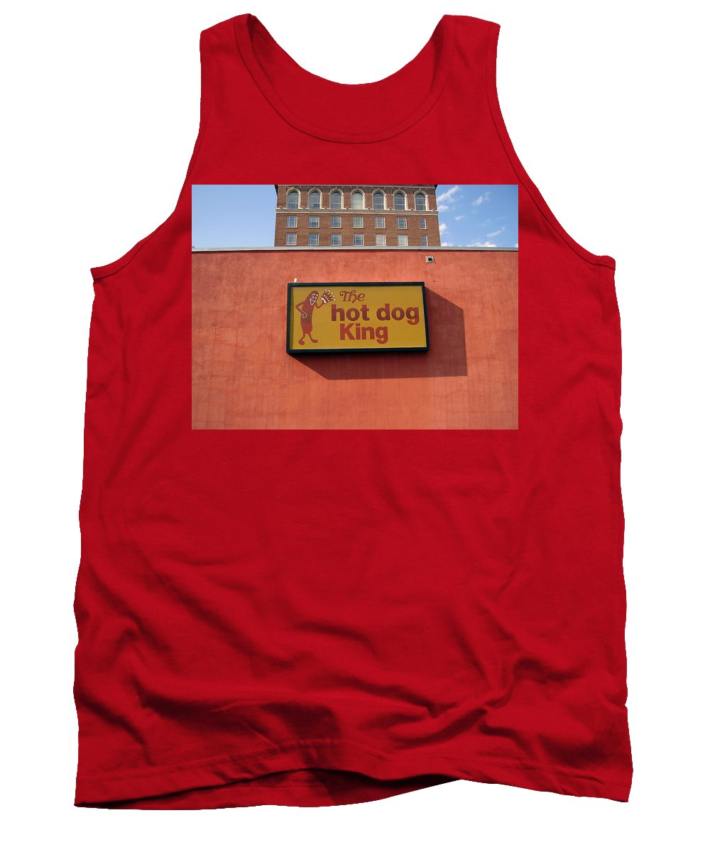 Hot Dog King Tank Top featuring the photograph The Hot Dog King by Flavia Westerwelle