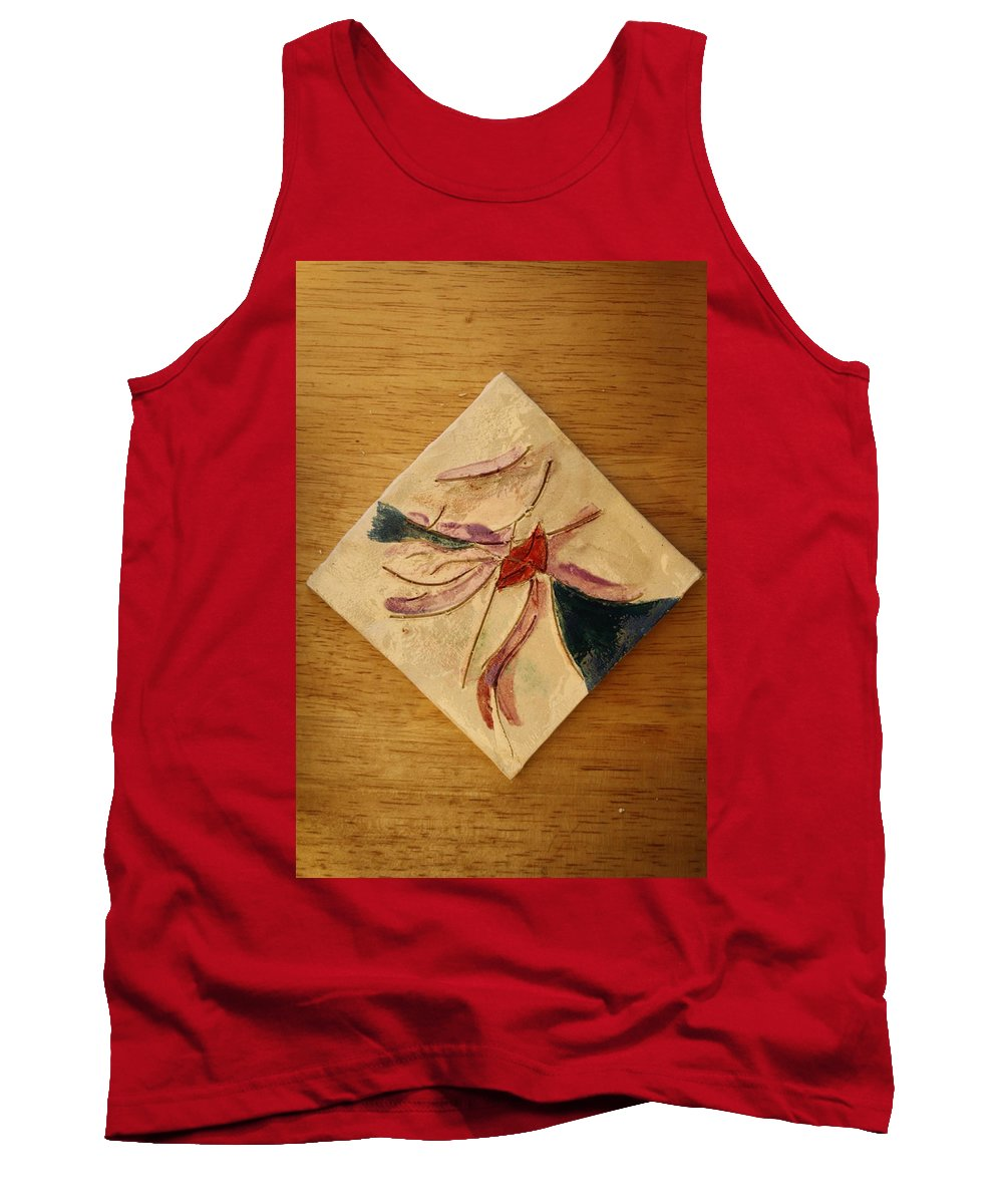 Jesus Tank Top featuring the ceramic art The Kiss 5 - Tile by Gloria Ssali