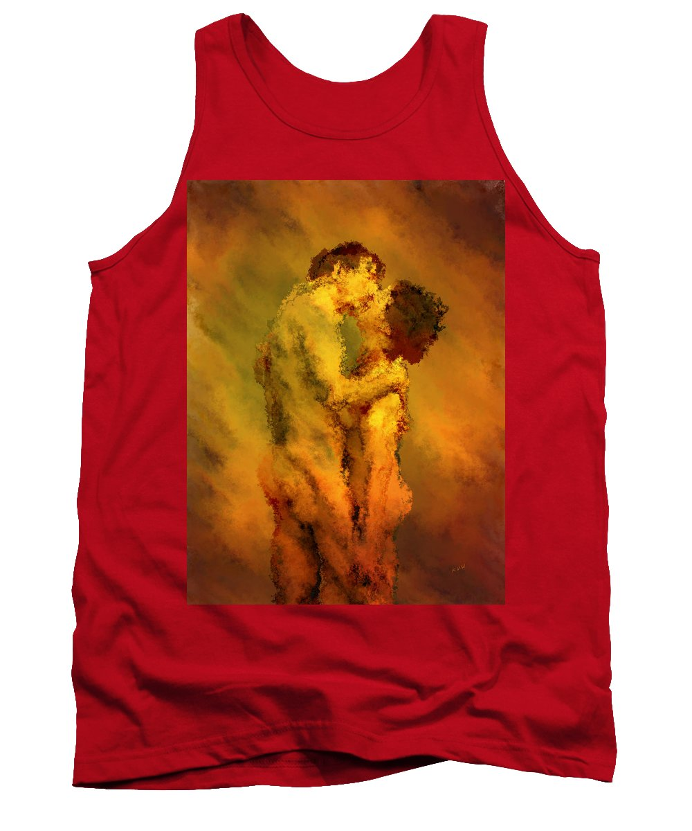 Nudes Tank Top featuring the photograph The Kiss by Kurt Van Wagner