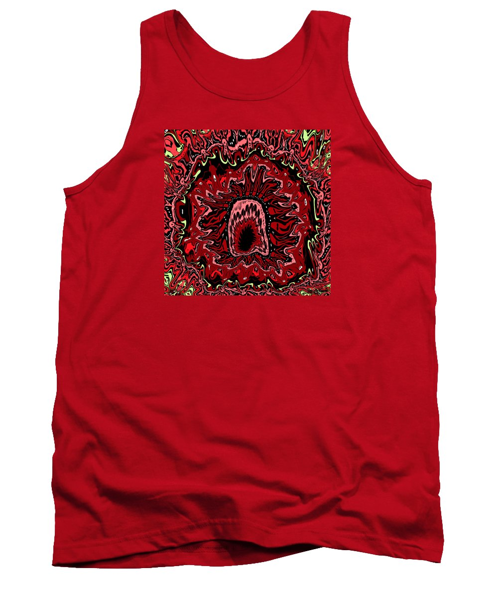 Digital Tank Top featuring the digital art The Mouth Of Hell by Joy McKenzie