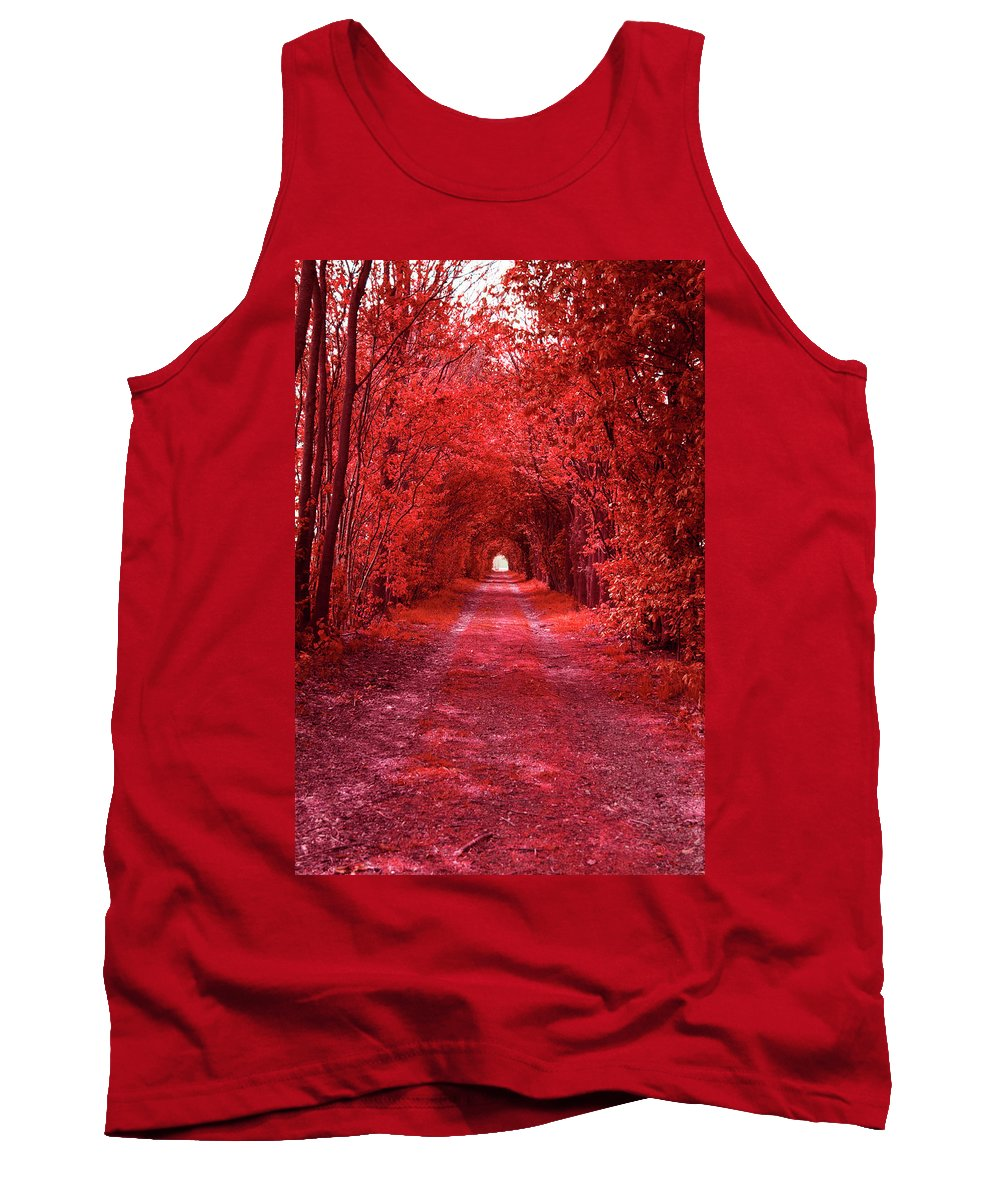 Red Tank Top featuring the photograph The Path 2 by Steve K
