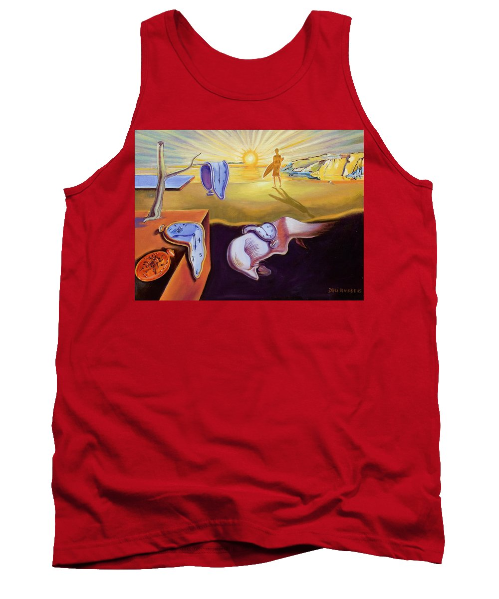 Surrealism Tank Top featuring the painting The Persistence Of Memory-amadeus Series by Dominique Amendola