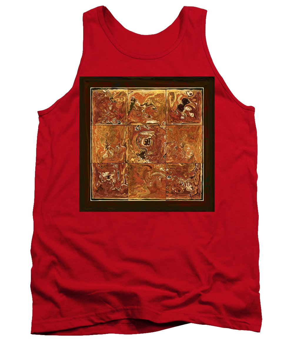 Abstract Tank Top featuring the digital art The Pieces by Rabi Khan
