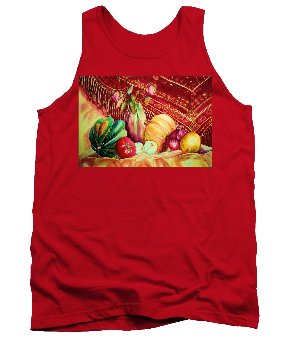 Reds Tank Top featuring the painting The Red Shawl by Carole Spandau