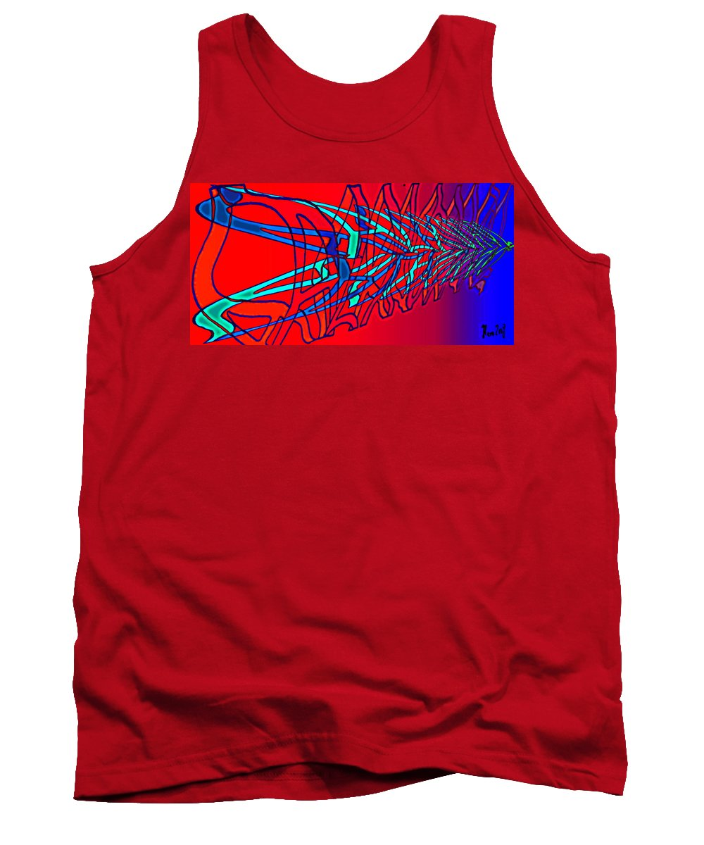 C2 Tank Top featuring the digital art The Risc Of Alcohol by Helmut Rottler