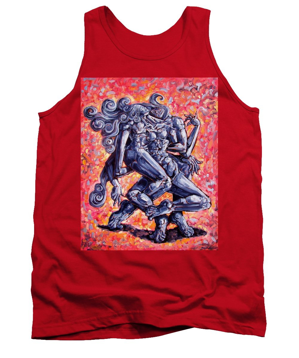 Surrealism Tank Top featuring the painting The Strangers by Darwin Leon